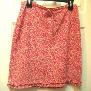 Dresses & Skirts - Les ailles de la mode Red Floral Skirt Size 9
